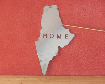 Maine state outline - metal art