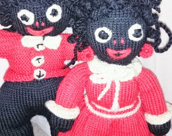 50% OFF ALL ITEMS!!! Coupon code: 50EOFY Vintage Rag Dolls, Golliwog Doll Set, Collectable Dolls - 1950 #554c