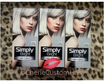 White Silver Hair Dye - Multiple Quantities Available Achieve White Ombre Hair Extensions Silver and Grey