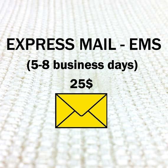 express mail service ems by shirleylaiterdesigns on etsy. Black Bedroom Furniture Sets. Home Design Ideas