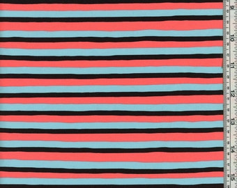 Nylon Spandex Swimwear Fabric - Stripe Print