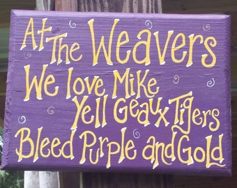LSU personalized porch sign!