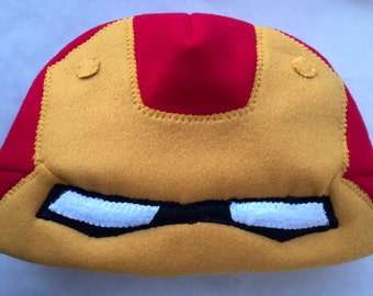 Adult L, Custom Iron Man Cosplay, Iron Man helment, superhero beanie, Iron Man scull cap, Iron Man fan art, gift ideas for teens