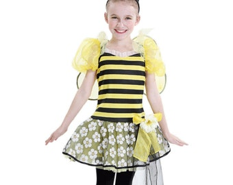 QUEEN BEE Bumblebee GIRL's Halloween Costume Size 8-10 + Free Treat Bag Birthday