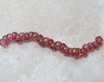 Crystal Red Luster 5 x 10 mm Large Hole Nano Beads (24)