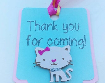 Kitty favor tag, kitty birthday decoration, kitty decorations