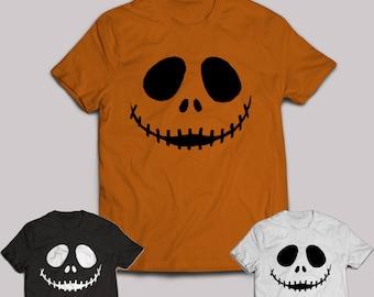 Halloween jack-o-lantern pumpkin T shirt costume