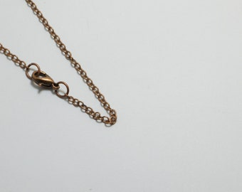 "10 Brass Chain Necklaces in Antique Copper Plated, 2mm Cable Chain, 24"" Inches Long, Anti-Rust, Strong, Soldered #SD-S7900-24"