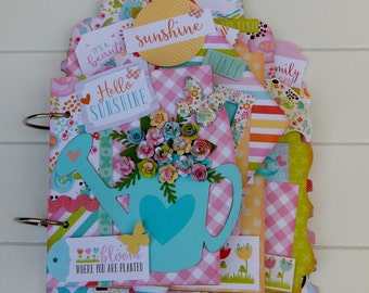 Hello Sunshine Mini Chipboard Album Kit