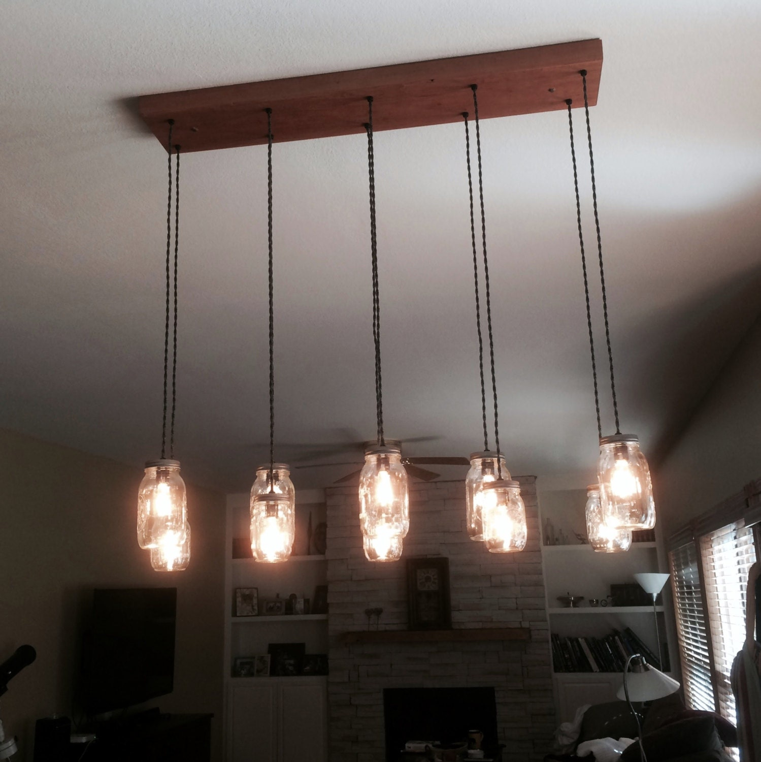 10 light diy mason jar chandelier rustic cedar rustic wood