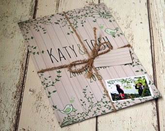 Woodland - Nature- Wedding Invitations Bundle - Minimum order 25