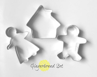 Gingerbread Cookie Cutter Set / Christmas Cookie Cutters