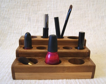makeup storage, cosmetic organizer, lipstick organizer, cosmetic box, wood organizer, cosmetic case, make up organizer, makeup organizer