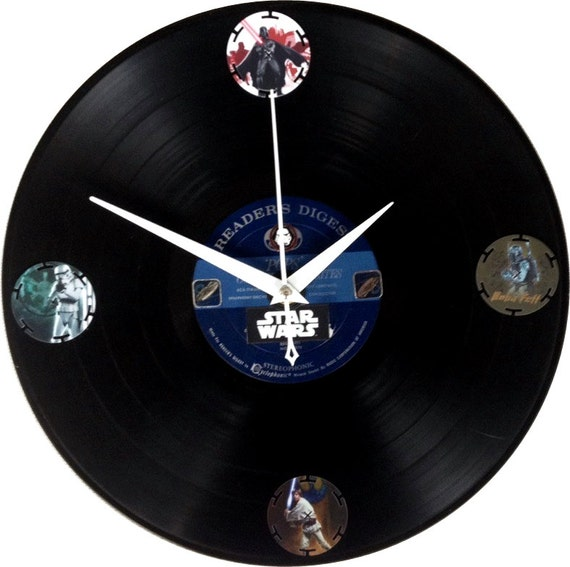 Star Wars Vinyl Clock Handmade Wall Clock Wall Decor Clock