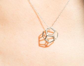 Dodecahedron pendant   necklace   bracelet, gold, sterling silver, brass, geometric, platonic solids