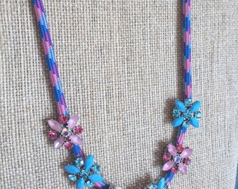 Cord and Gem Necklace