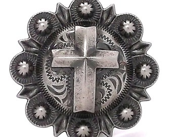 """Cross Berry Concho Antique Silver All Metal 1-1/2"""" 1738-21"""