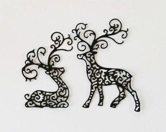 Lacey Reindeer Die Cuts