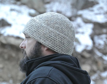 Crochet Fisherman's Wool Men's Beanie
