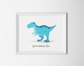T Rex, Dinosaur Wall art, Dinosaur Nursery, dinosaur room decor, boys room, dinosaur print, Dinosaur decor, dinosaur printable, jurassic art