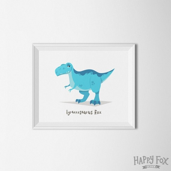 T rex dinosaur wall art dinosaur nursery dinosaur room for T rex bedroom decor