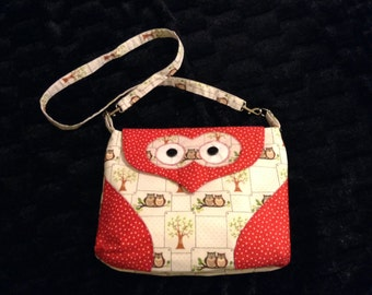 Owl handbag, shoulder bag