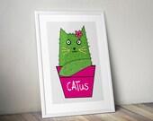 Cat 'Catus' print...