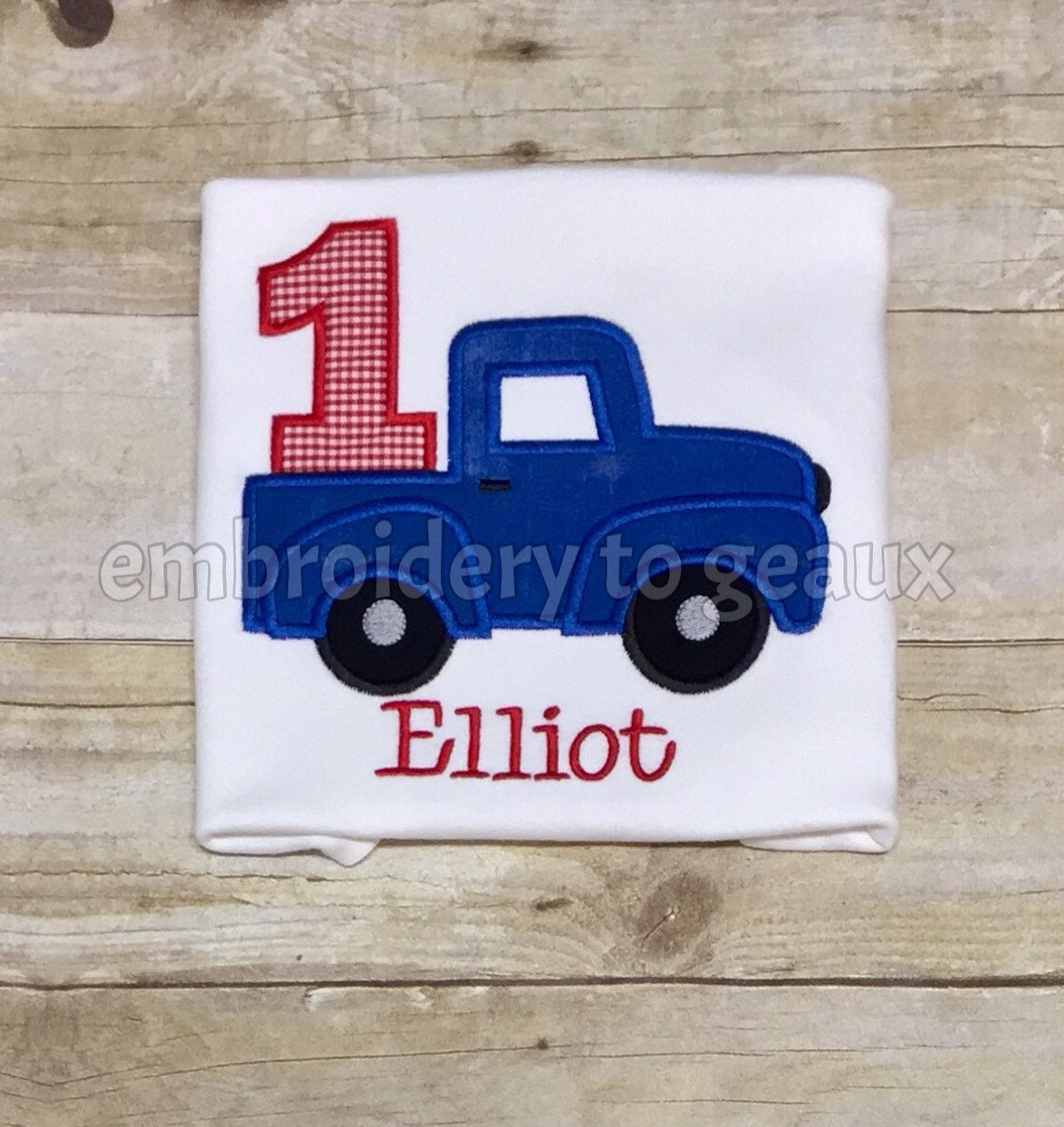 Little blue truck inspired first birthday t shirt or for Little blue truck fabric