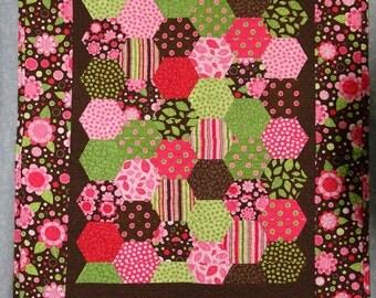 Quilt, Baby quilt, Crib quilt for girl, shower gift, handmade