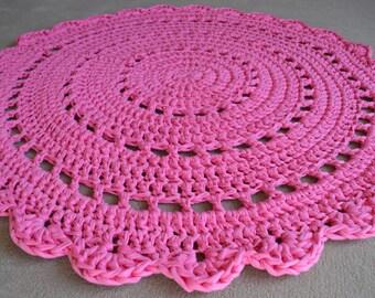 Handmade Crochet Floor Rug - Doily - ON SALE