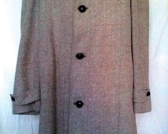 Vintage Kynoch of Keith Tweed Overcoat - Large