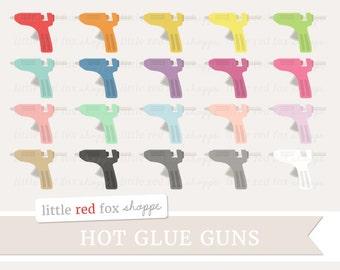 Glue Gun Clipart, Crafting Clip Art Hot Glue Gun Sewing Scrapbooking Hot Glue Household Cute Digital Graphic Design Small Commercial Use
