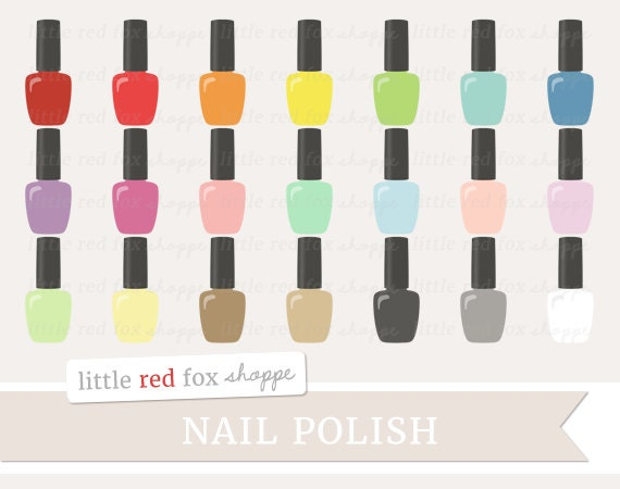 nail polish clipart vector free - photo #45