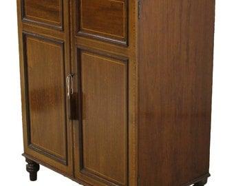Maples & Co. Edwardian Mahogany Two Door Cabinet