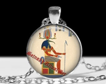 Thoth pendant, Egyptian God jewelry, Hermes Trismegistos necklace, gnostic jewelry, magic, esoteric, sacred, hermetic antique jewelry #400