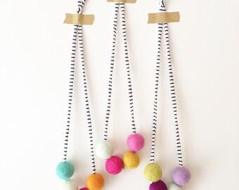 Custom- Woolie ball necklace