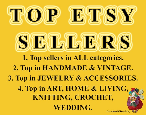 Top etsy sellers top selling shops most popular shop best for Top selling handcrafted items