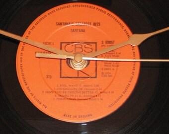 "Santana Santana's greatest hits  12"" vinyl Lp / album  record clock"