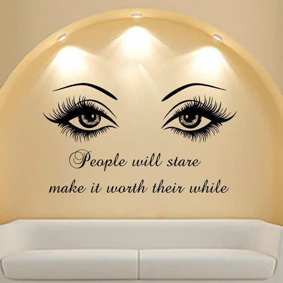 wall decal quote beauty salon make up girl woman by cozydecal fantastic family tree pattern photo frame 3d wall sticker