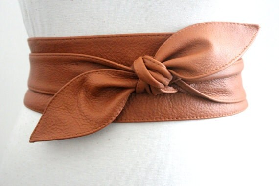 Love Yaa Yaa Tan Leather Obi