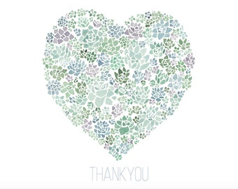 A2 Succulent Thank You Cards