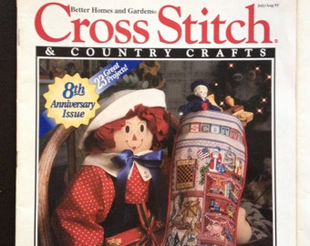 Cross Stitcch & Country Crafts - 5 magazines - first bundle