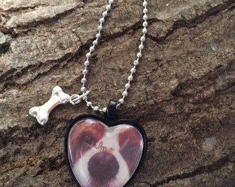 handmade necklace with picture.