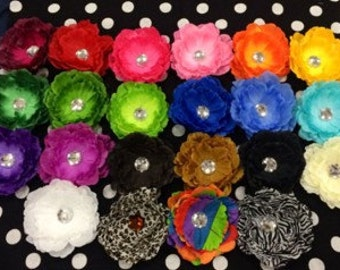 You choose 10 for only 20 bucks!- peony flower hair clips-