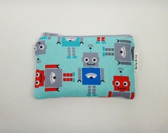 Robots Boys Wallet, Kids Wallet, Kids Coin Purse, Toddler Wallet, Children's Wallet, Coin Pouch