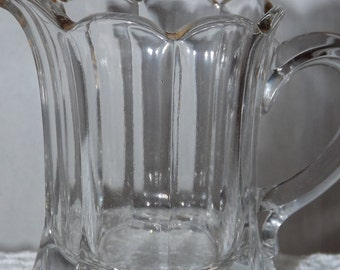 Vintage Scalloped Clear Collectible Creamer