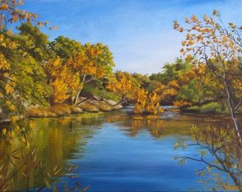 Early Autumn, Morgan Hill, California, Landscape, Original Oil Painting