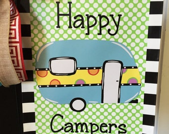 Camper, Garden Vinyl Flag, Camping, RV, Flag