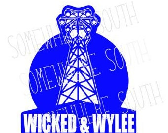 Dirty Heads Wicked and Wylee Moon tower vinyl car decal / sticker