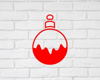 Christmas decal sticker snow bauble vinyl decal, many colors xmas decal.